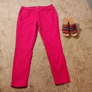 Pants - Vivid Red/Pink the loft jeans